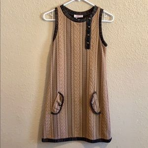 Quilted mod style dress size small